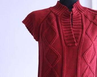 SALE / Vintage 1980s red  Sweater, Women sweater