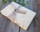 Wood Notebook - Handmade Journal - Sketchbook  - Wedding Guest Book
