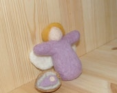 needle felted mama and baby fairy set