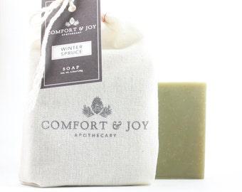 Winter Spruce Soap, Vegan Soap, Handmade Soap, Pine Soap, Natural Soap, Holiday Soap, Christmas Soap