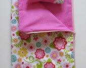 American Girl Doll Clothes; Doll Sleeping Bag; Flowered Doll Sleeping Bag; Zippered Doll Sleeping Bag with Pillow