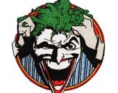 Joker Asylum Inmate Batman Arkham Villain DC Comics Iron-On Applique Patch