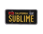 """Band """"Sublime: California"""" Patch License Plate Logo Ska Punk Iron-On Applique"""