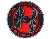"""Star Wars """"TIE Fighter Squadron"""" Patch Galactic Empire Apparel Iron-On Applique"""