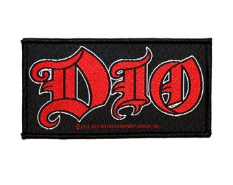 """Band Logo """"DIO"""" Patch Ronnie James Heavy Metal Music Fan Jacket Sew-On Applique"""