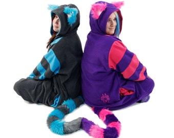 Pawstar CHESHIRE CAT KIGU Kitty kigurumi fursuit costume cosplay Alice wonderland pajamas onsie animal suit Halloween rave anime 6324