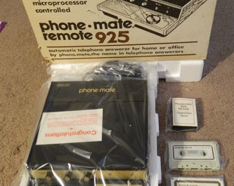 NIB! Vintage 1980's Phone Mate Remote 925 Answering Machine! Brand New! In Original Box