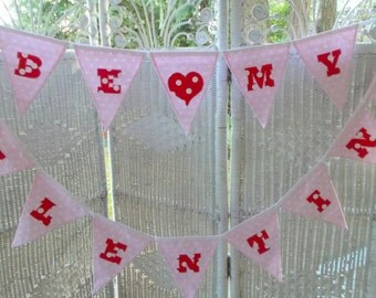 BE MY VALENTINE banner- valentine's day