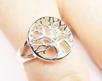 Tree of Life Ring in Sterling Silver, Rings, Silver Jewelry, Silver Rings, Best Tree of Life Ring, Trendy Tree Ring, Nature Jewelry, Trees,
