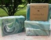 Cool Citrus Basil, Natural Handmade Soap, Cold Process, Vegan