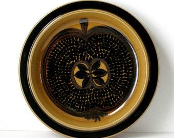 "60s Arabia Finland Fructus 13"" Charger Gunvor Olin-Grönqvist Chop Plate Large Round Platter Mid Century Danish Modern Organic Ex Condition"