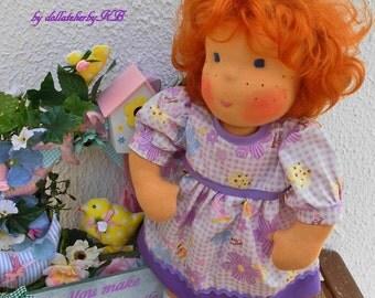 16.8 inch handmade Waldorf  doll girl girls doll cloth doll waldorf doll human figure doll ready to go