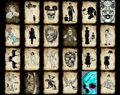 Set of postcards for your choice,postcard,weird,strange,creepy,zombie,art,Skull,Mickey,dog,Marilyn,Unicorn,Frankenstein