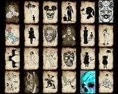 Set of postcards for your choice,postcard,weird,strange,creepy,zombie,art,Skull,Mickey,dog,Marilyn,Unicorn,Frankenstein
