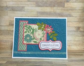 congratulations card, handmade card, greeting card, all occasion card