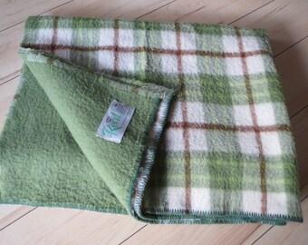 Retro vintage 1960s 100% wool blanket dutch blanket from Holland