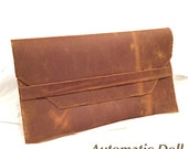 Rustic Leather Clutch Purse Handmade in the U.S.A.