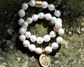NEW White Pearl Gold Charm Accents by BeadRustic | FREE SHIPPING