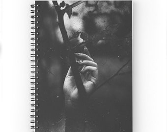 Grunge Photographic Hands and Rose Thorns - Spiral Notebook and Journal