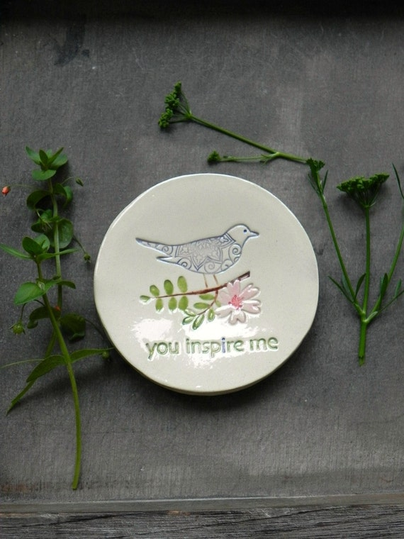 Inspiration Ring Dish Flower and Leaf Ceramic Dish Storage Bird Lace Round Flower Plate Jewelry Holder