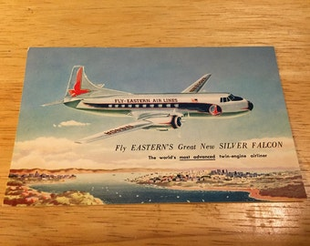 Eastern Airlines Advertising Postcard