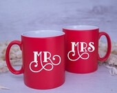 MR and MRS Couple's Mugs - A Perfect Valentines or Wedding Gift