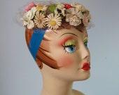 Floral Circle Hat / Vtg 5...