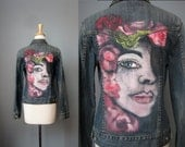 Hand Painted Denim Jacket...