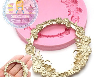 Floral Circle Ornate Embellishment Silicone Mold 730m* Cupcake Decoration Cake Art Fondant Mold Candy Melts BEST QUALITY