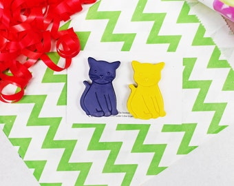 Cat Crayon Party Favour - Party Bag filler - Mini Gift Set - Wedding Favours - Made to Order - Handmade Crayons - Kids Party Favour