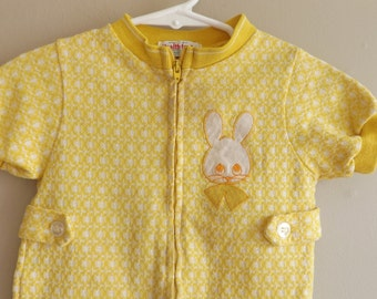 Rompers For Baby Boys. Vintage Health Tex. Mid Century Boy Clothes. Mustard Yellow. Boys Vintage. Baby Clothes.