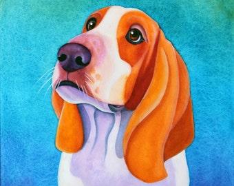 12x12 Custom Pet Portrait Watercolor Painting Custom Dog Portrait Custom Dog Painting Custom Pet Art Custom Animal Art Custom Pet Painting