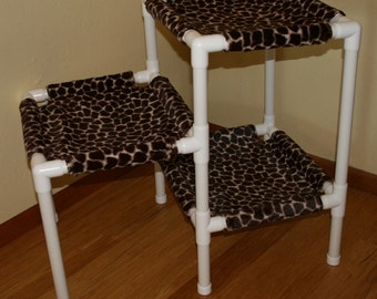 NEW The 3 Tier Cat Condo - Faux Fur - Color Giraffe