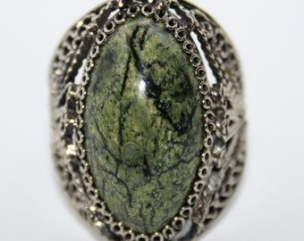 Russian Serpentine Ring, 8,5 size, WORLDWIDE FREE SHIPPING