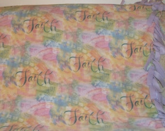 Faith Fleece Tied Blanket