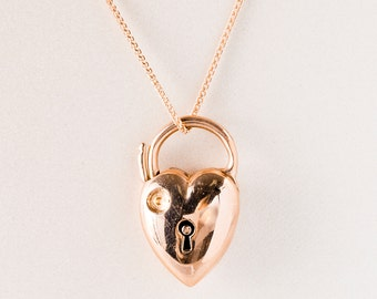Antique Necklace - Antique Victorian 9k Rose Gold Locket Necklace