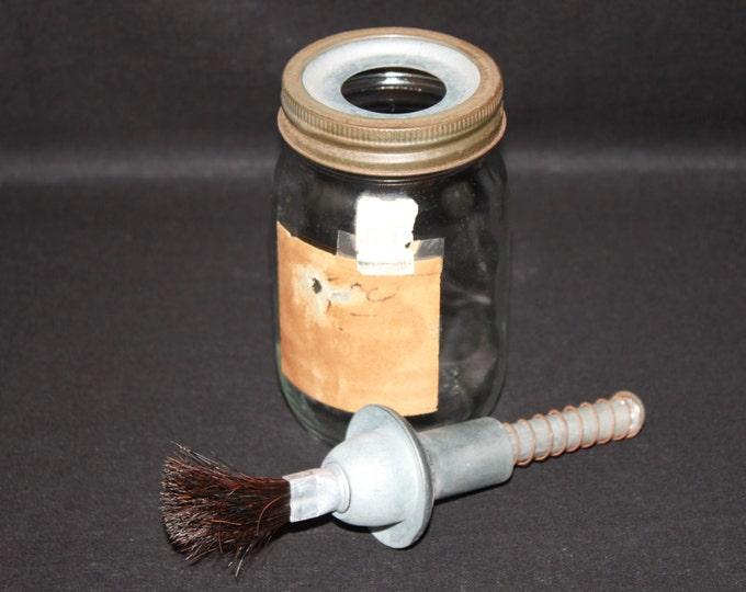 Vintage 1970s Bilbrey Glue Pot, Glue Jar, Craft Supplies