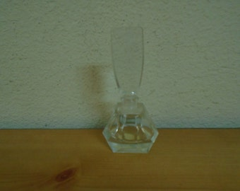 Vintage Lead Crystal Hand Cut Gorgeous Perfume Bottle!