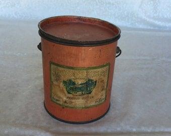 Vintage Peanut Butter Tin -  Tin - Vintage Kitchen Decor - Peanut Butter Bucket - Peanut Butter Can - Farmhouse Kitchen - Kitchen Decor