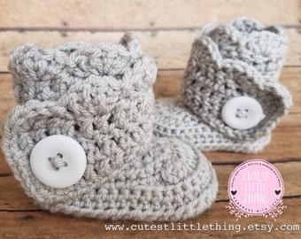 UGG Baby Boots, Baby Girl Boots, Crochet Baby Boots, UGG Booties, Crochet Booties, Baby Girl Booties, Girl Boots, Crochet Baby Shoes