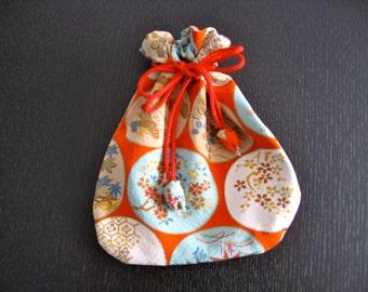 Pouch,Small Bag,Japanese  Silk kimono fabric #21