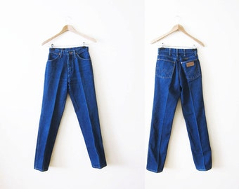 70s Wrangler Jeans / High Waisted Jeans / Mom Jeans / 70s Clothing / 24