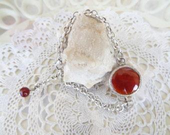 Brown Agate Bracelet, Agate Pendant Bracelet, Adjustable Bracelet, Bridal Gifts, Turkish Jewelry Style Bracelet, Mother's Day Gift