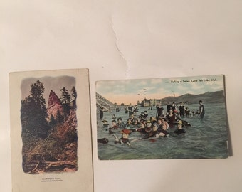 Lot of 2 Vintage Postcards