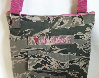 ACU crossbody bag, hip bag, small crossbody purse, Air Force Purse, Military bag