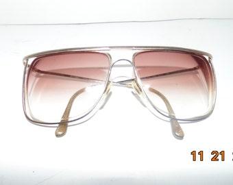 Vintage 80s Marchon Gradient lens prescription sunglasses Japan metal frames