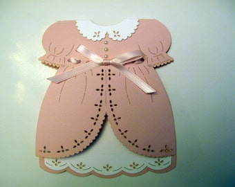 Valentina Dress- Baby Invitations - Baby Shower - Announcement - Religious Events -Christening