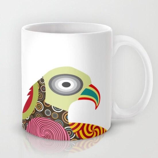 Bird Mug Colourful Mug Bird Lover Gift Bird Design