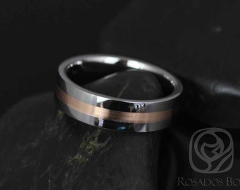 Austin Straight Pipe W/ 2mm Striped Rose Gold High Finish Band