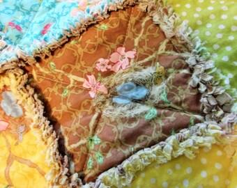 Rag Blanket for Baby or Child - Bird Nests